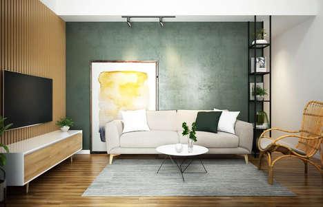 Thiết kế phòng khách nhà phố Nha Trang 120m2 - IKI190014