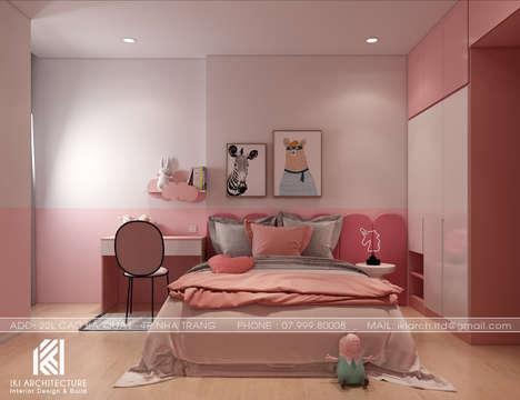 Thiết kế phòng ngủ trẻ em căn hộ PH Nha Trang - IKI200046