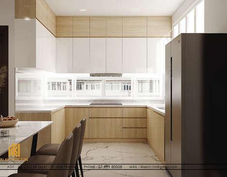 Thiết kế phòng bếp nhà phố chợ Đầm Nha Trang 120m2 - IKI200017