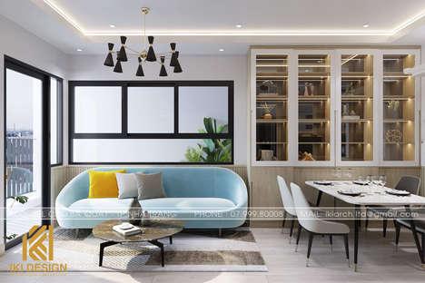 Thiết kế phòng khách căn hộ CT4 Nha Trang 80m2 - IKI200074