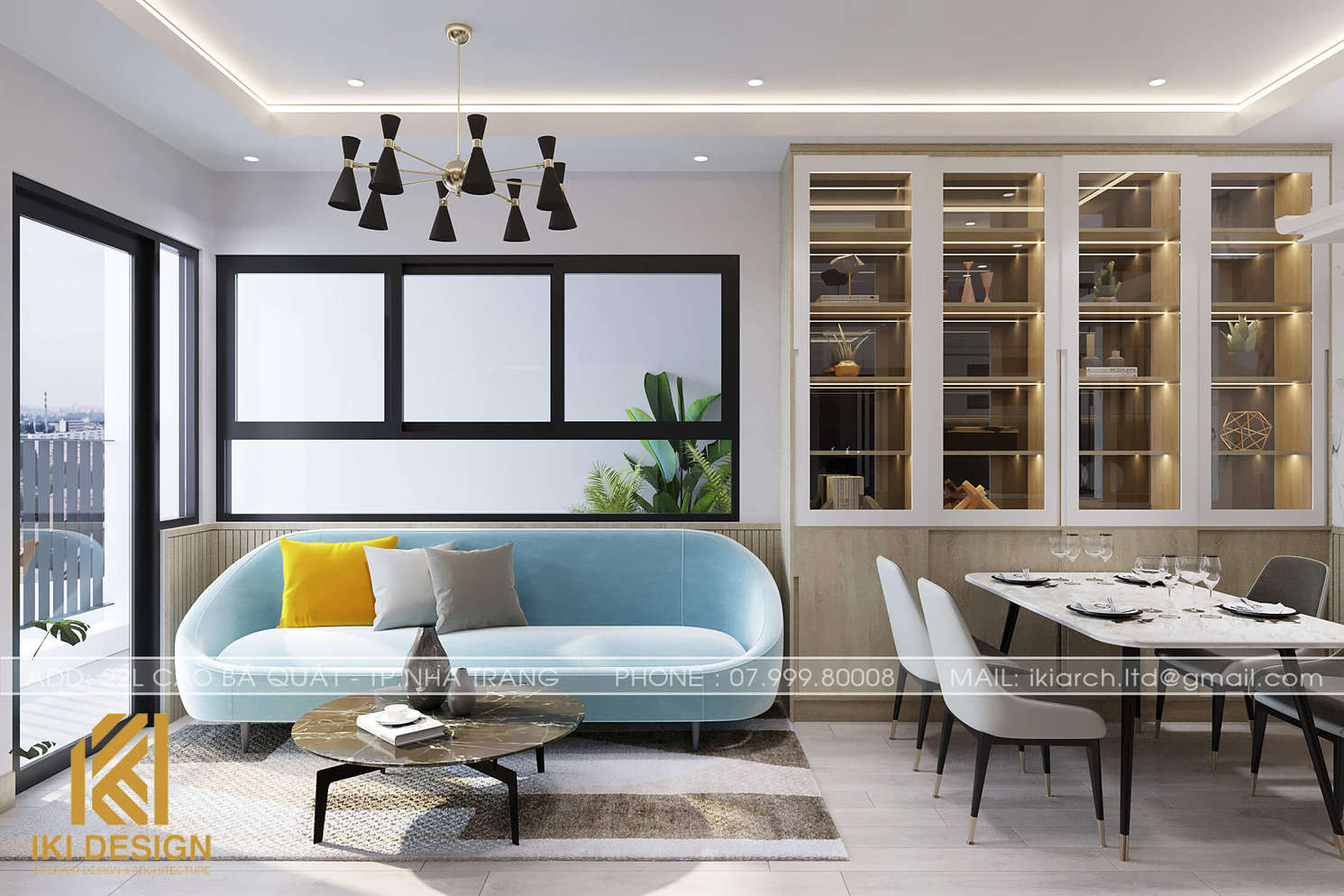 Thiết kế nội thất căn hộ CT4 Nha Trang 80m2 - IKI200074