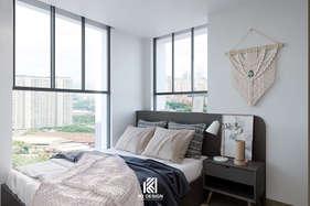 Thiết kế phòng ngủ master căn hộ Nha Trang 95m2 - IKI200056