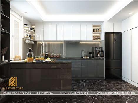 Thiết kế nội thất phòng bếp Hòn Rớ Nha Trang 150m2 - IKI190020