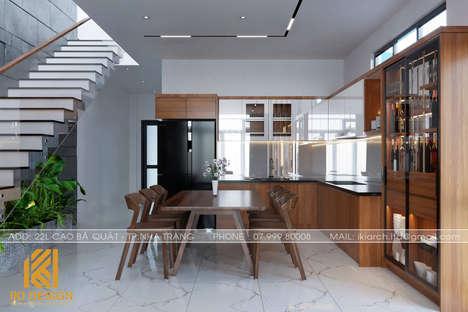 Thiết kế phòng bếp nhà phố Nha Trang 200m2 - IKI200056