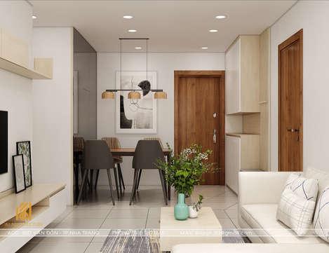 Thiết kế phòng khách căn hộ CT2 VCN Nha Trang 65m2 - IKI200001