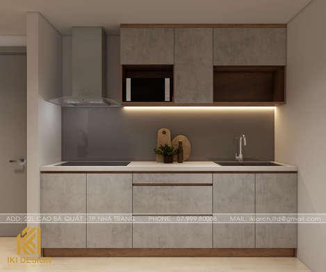 Thiết kế phòng bếp căn hộ Gold Coast Nha Trang 55m2 - IKI200055