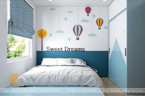 Thiết kế phòng ngủ trẻ em căn hộ Hoàng Quân Nha Trang 65m2 - IKI200030