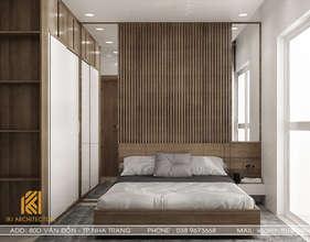 Thiết kế phòng ngủ master căn hộ CT2 VCN Phước Hải Nha Trang 65m2 - IKI200027