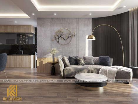 Thiết kế phòng khách căn hộ HUD Nha Trang 70m2 - IKI200000