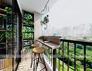 Thiết kế nội thất căn hộ PH Nha Trang 62m2 - IKI200069