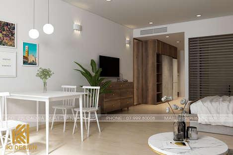 Thiết kế phòng khách căn hộ Gold Coast Nha Trang 55m2 - IKI200055
