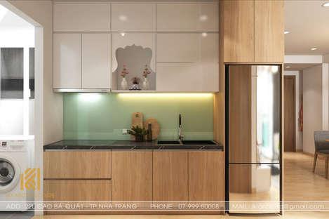 Thiết kế phòng bếp căn hộ Hoàng Quân Nha Trang 65m2 - IKI200030