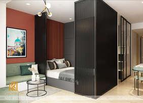 Thiết kế phòng ngủ master căn hộ Gold Coast Nha Trang 65m2 - IKI200002