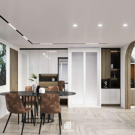 Thiết kế phòng bếp căn hộ HIEMEDIANha Trang 90m2 - IKI210010