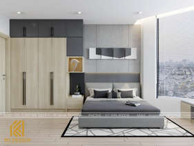 Thiết kế phòng ngủ master căn hộ HUD Nha Trang 66m2 - IKI200000