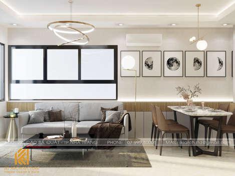 Thiết kế phòng khách căn hộ CT4 Nha Trang - IKI200042