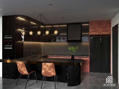 Thiết kế phòng bếp căn hộ chung cư Nha Trang 150m2 - IKI210061