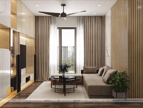 Thiết kế phòng khách căn hộ CT2 VCN Nha Trang - IKI200009