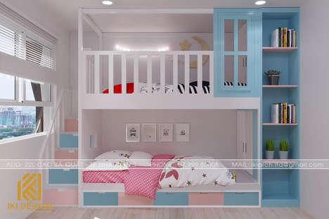 Thiết kế phòng ngủ trẻ em căn hộ CT4 Nha Trang 73m2 - IKI200078