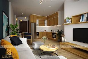 Thiết kế nội thất căn hộ PH Nha Trang 65m2 - IKI190056