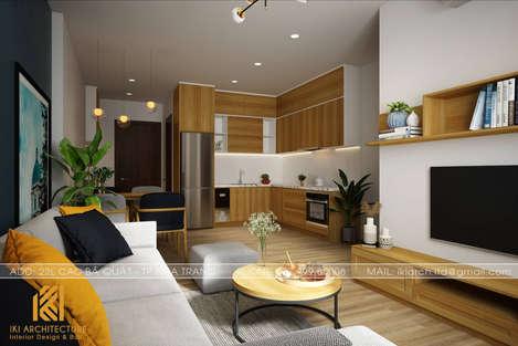 Thiết kế phòng khách căn hộ PH Nha Trang 65m2 - IKI190056