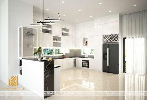 Thiết kế phòng bếp nhà phố VCN Phước Hải Nha Trang 200m2 - IKI190037