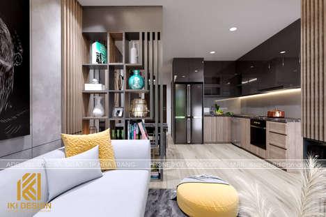 Thiết kế phòng bếp căn hộ PH Nha Trang 62m2 - IKI200069