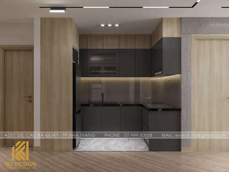 Thiết kế phòng bếp căn hộ HUD Nha Trang 66m2 - IKI200000