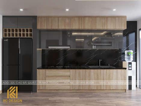 Thiết kế phòng bếp căn hộ HUD Nha Trang 70m2 - IKI200000