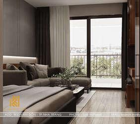 Thiết kế phòng ngủ master căn hộ Panorama Nha Trang 45m2 - IKI190054