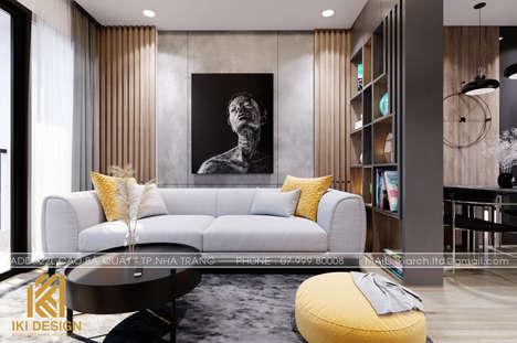 Thiết kế phòng khách căn hộ PH Nha Trang 62m2 - IKI200069