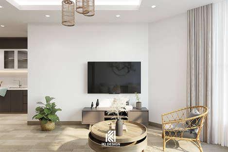 Thiết kế phòng khách căn hộ Nha Trang 95m2 - IKI200056