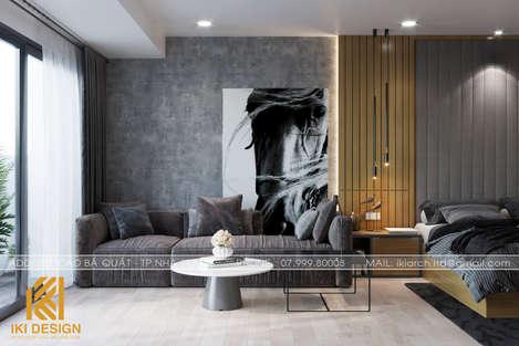 Thiết kế phòng khách master căn hộ Gold Coast 55m2 - IKI200052