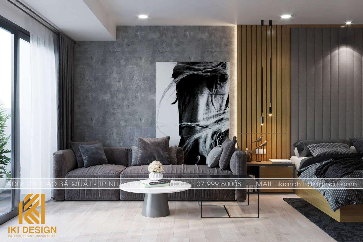 Thiết kế căn hộ Gold Coast Nha Trang 55m2 - IKI200052