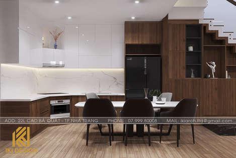Thiết kế phong bếp nhà phố Nha Trang 270m2 - IKI200045