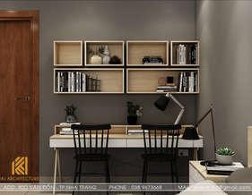 Thiết kế phòng ngủ master căn hộ CT2 Nha Trang 65m2 - IKI190061