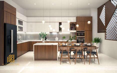 Thiết kế phòng bếp nhà phố Nha Trang 120m2 - IKI190018