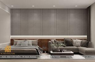 Thiết kế nội thất căn hộ Panorama Nha Trang 45m2 - IKI190054