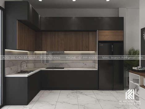 Thiết kế phòng bếp nhà phố Nha Trang 150m2 - IKI200028