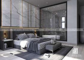 Thiết kế phòng ngủ master nhà phố Nha Trang 150m2 - IKI200028