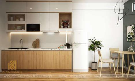 Thiết kế phòng bếp nhà phố Nha Trang 120m2 - IKI190014