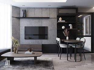 Thiết kế nội thất căn hộ Hud Building Nha Trang 65m2 - IKI210062