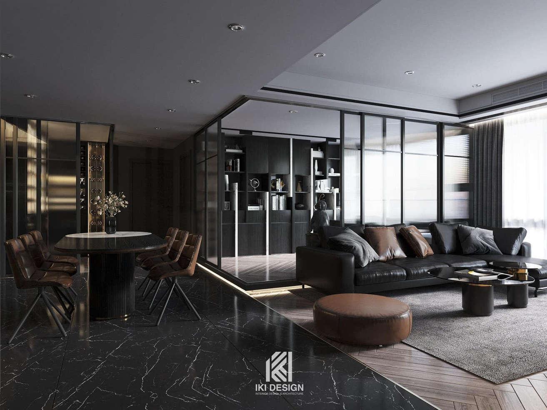 Thiết kế căn hộ chung cư Nha Trang 150m2 - IKI210060