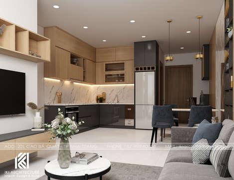 Thiết kế phòng bếp căn hộ PH Nha Trang - IKI200046