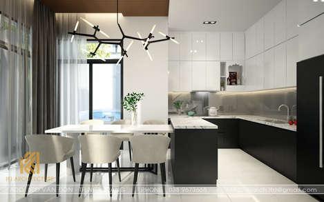 Thiết kế phòng bếp nhà phố Nha Trang 200m2 - IKI190030