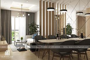 Thiết kế nội thất căn hộ Hoàng Quân Nha Trang - IKI200032