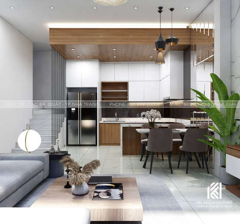 Thiết kế phòng bếp nhà phố Nha Trang 150m2 - IKI200035