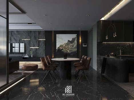 Thiết kế phòng bếp căn hộ chung cư Nha Trang 150m2 - IKI210060
