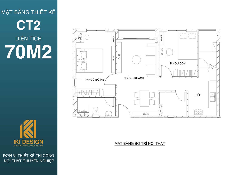 Mặt bằng dự án CT2 diện tích 70m2