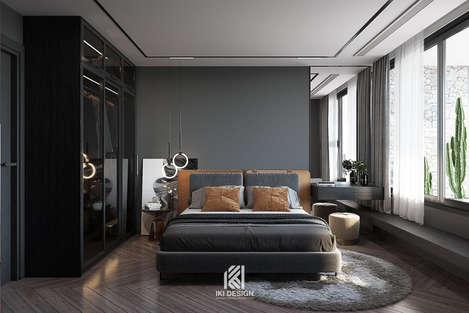 Thiết kế phòng ngủ khách căn hộ chung cư Nha Trang 150m2 - IKI210060